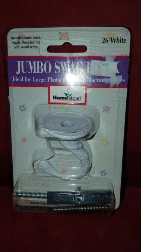 Home stead jumbo swag hook ~WHITE~ NEW