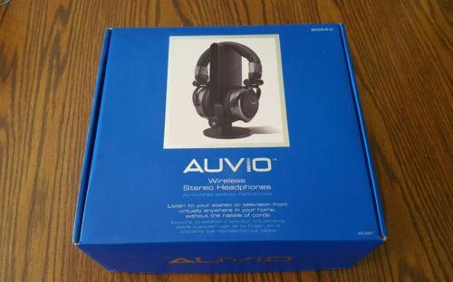 AUVIO 3300281 WIRELESS STEREO HEADPHONES 900MHZ W/TRANSMITTER 150 FEET RANGE BRA