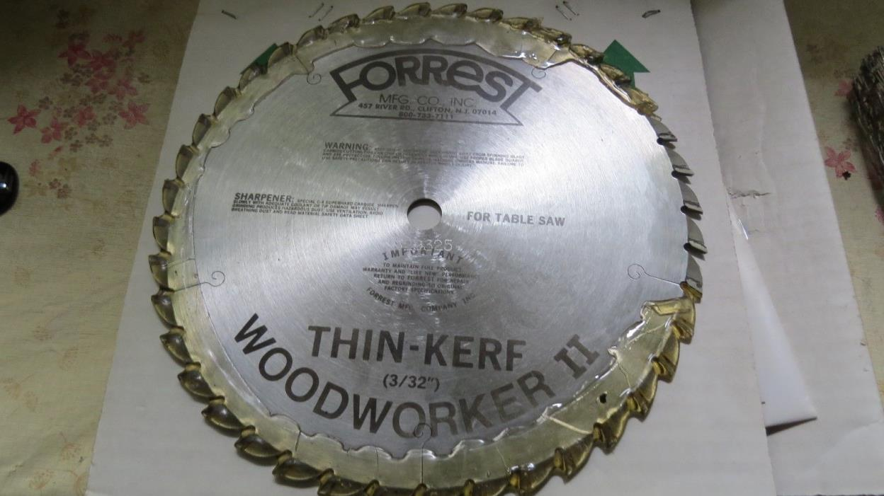 new Forrest thin kerf carbide tipped table saw blade 10407100