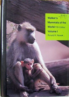WALKER'S MAMMALS OF THE WORLD - RONALD M. NOWAK