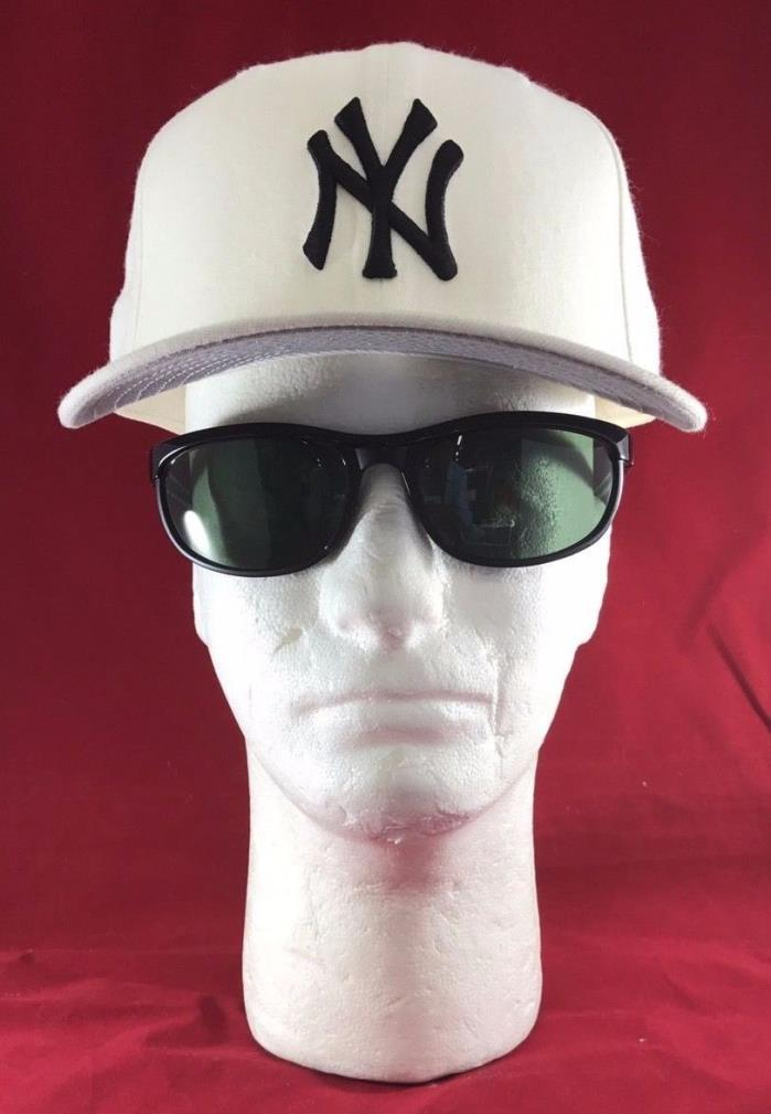 New Era 59Fifty New York Yankees White With Black NY LOGO Flat Bill Hat