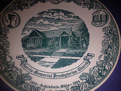 Vtg KETTLESPRINGS KILNS ASHTABULA, OHIO  Harris Memorial Church Collectors Plate