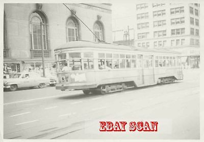 6H490 RP 1953 CLEVELAND INTERURBAN RAILWAY LAST TYPE OF SURFACE CAR OPERATING OH
