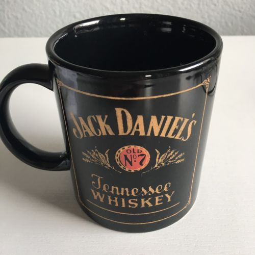 Jack Daniels Old No 7 Tennessee Whiskey Black Gold And Red Coffee Mug Glass