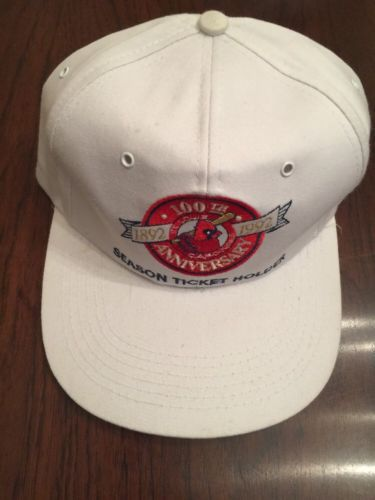 Vintage St. Louis Cardinals 1992 100th Anniversary Season Ticket Holder Cap