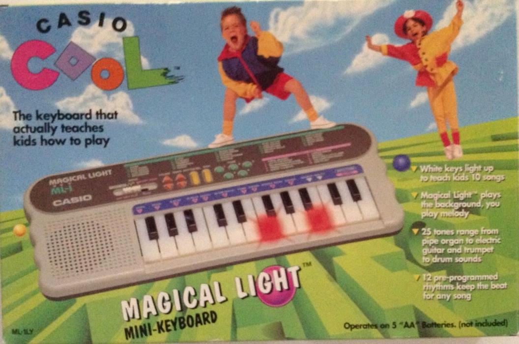 Brand New Vintage CASIO Magical Light ML-1 Electronic Light Up Keyboad