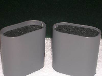 Backgammon Game Replacement Parts Dice Cups Shakers Grey Faux Leather Black Felt
