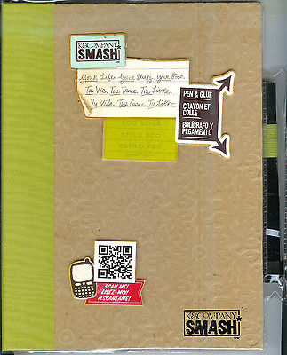 NEW  K & Company - SMASH - Journal / notebook Scrapbooking