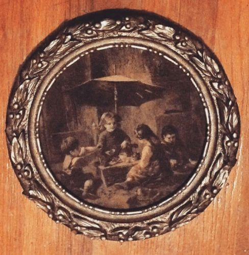 Vintage art in carvello handcarved frame