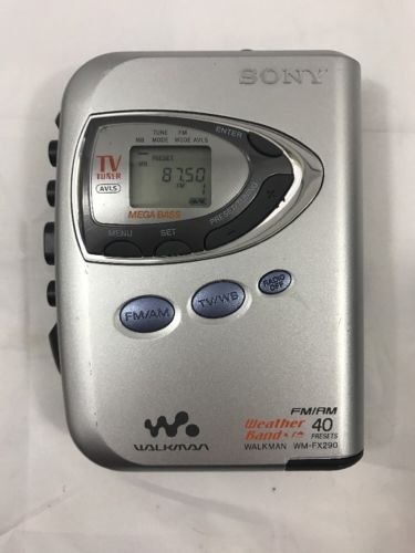 Sony Walkman WM-FX290 Digital Tuning FM/AM/Weather Band Stereo Cassette Player