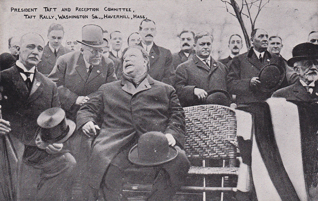 HAVERHILL, Massachusetts, 1900-1910's; President Taft And Reception Committee