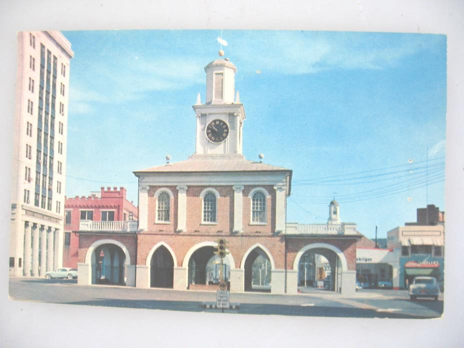 North Carolina NC Fayetteville Market House Postcard Old Vintage, 50's, unused