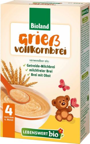 Lebenswert Organic Semolina Cereal 225g from 4 month on *FREE SHIPPING*