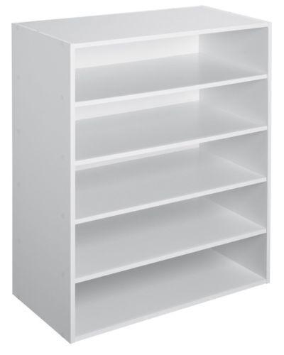 ClosetMaid 1565 Stackable 5-Shelf Organizer White Storage Unit Shelving Shelfs