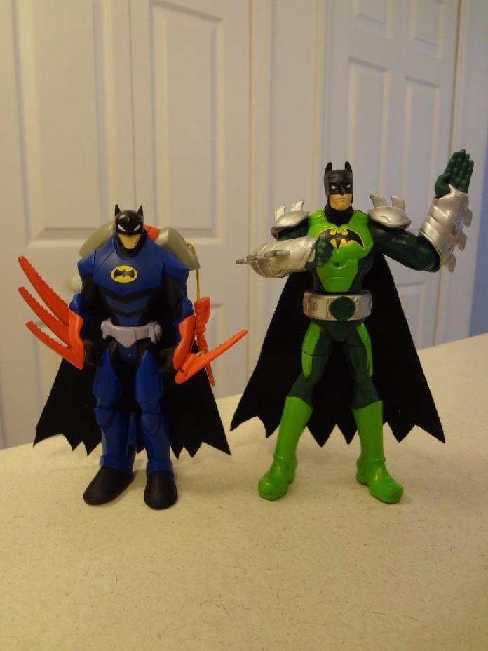 Set of 2 Batman Action Figures (Zipline Batman and Karate Action)