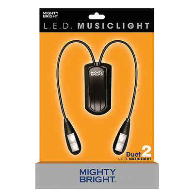 MIGHTY BRIGHT 51810 Duet 2 Music Light Deluxe Set-Black