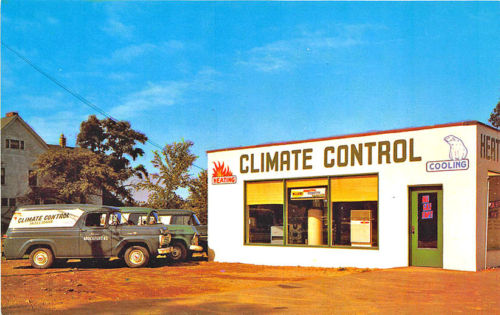 Brockport NY Climate Control Trucks Postcard