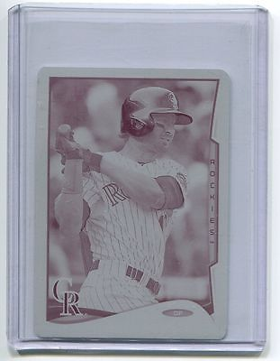 2014 Topps Mini Online Print Plate Magenta Charlie Blackmon 1/1 Colorado Rockies