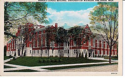 VINTAGE POSTCARD--1940'S--WOMEN'S LEAGUE BLDG.--U OF MICH.--ANN ARBOR, MICH.