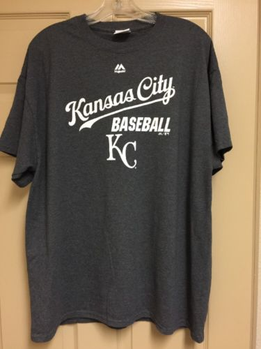 Kansas City Royals Baseball T Shirt XL Grey