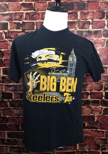 BIG BEN ROETHLISBERGER Pittsburgh Steelers Football T-SHIRT Large Graphic T NFL