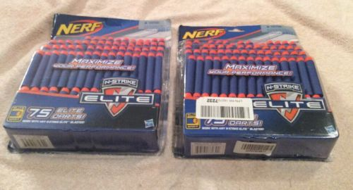 (2)Nerf N-Strike Elite Darts, Refill Packs, 146 Darts