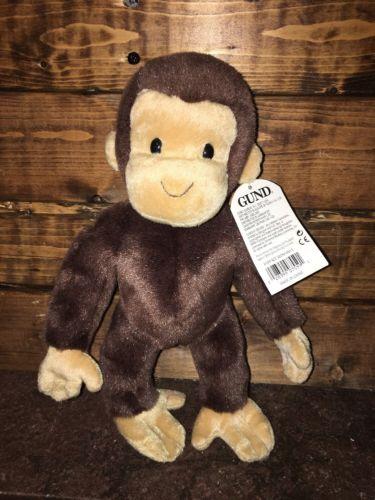 NWT Curious George Bend and Pose Gund Plush Monkey Animal 7559