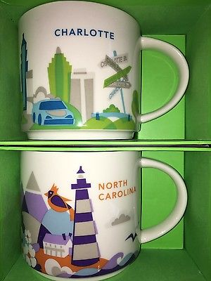 Starbucks City Mug, NORTH CAROLINA & CHARLOTTE, «You Are Here» Collection, 14oz.