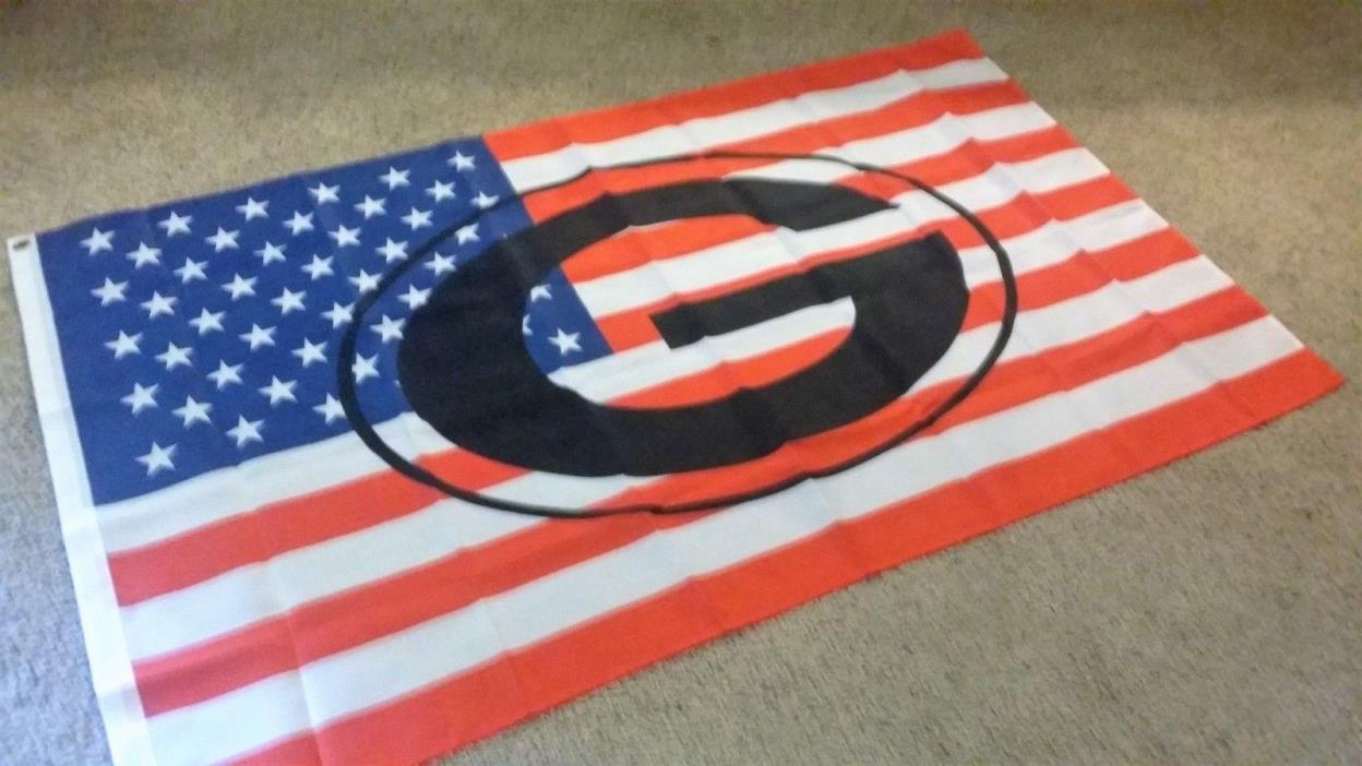 New Nfl Red,White & Blue Green Bay Packers 3X5 Flag