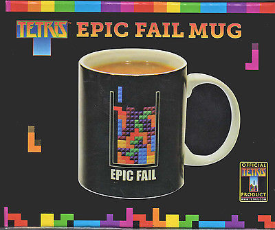 "Tetris 10 oz Ceramic Coffee Mug ""Epic Fail"" Video Game Gamer Great Gift!"
