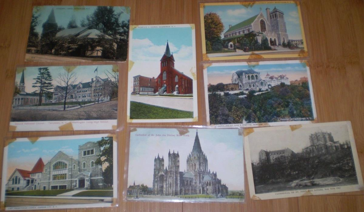 New York Postcards NYC Broadalbin Tarrytown More