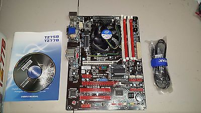 Biostar TZ77B LGA 1155, Intel Motherboard, w/Pentium G620 2.6GHz and heatsink