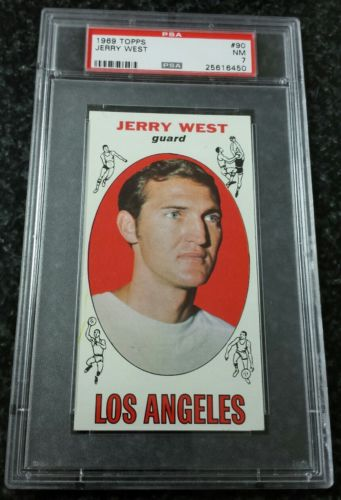 1969-70 Topps #90 Jerry West PSA 7 NM