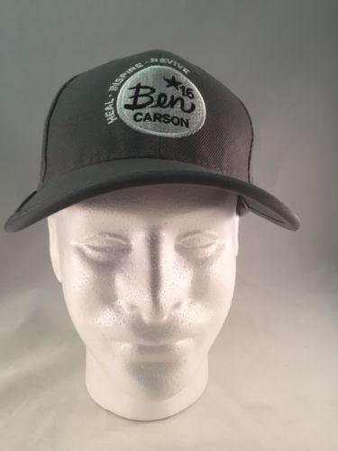 Ben Carson For President Baseball Cap Hat Grey Presidential Campaign 2016 Adj