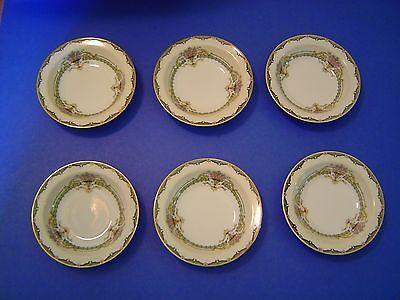 (6) Vintage Noritake Penelope #76837 Dessert/Berry Bowls 5-1/2