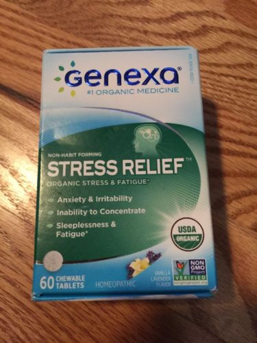 Genexa Stress Anxiety Relief Certified Organic Physician Formula Non Habit Form