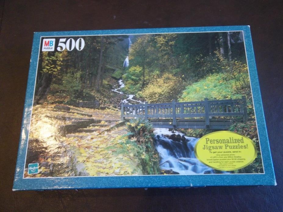 Milton Bradley 500  piece puzzle: Wahkeena Falls, OR.