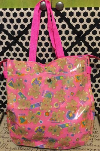A Very Rare Sanrio 1976, 1990 Sanrio Just For Fun Bear Tweedle Bear Tote Bag