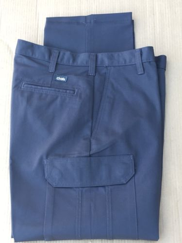 Cintas Comfort Flex Charcoal Grey Cargo Work Pants Size 34x32