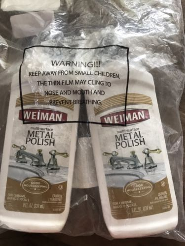 Weiman Metal Polish Multi Surface - 2 Bottles