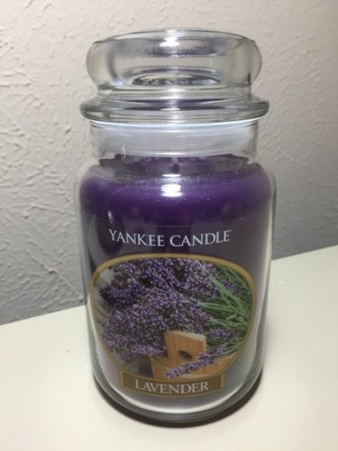Yankee Candle 22oz Lavender Retired Design Large Jar New