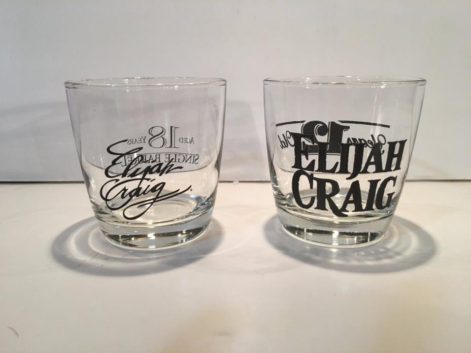 Two (2) Elijah Craig Aged 12 and18 Years Old Bourbon / Whiskey Glasses