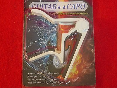 NEW QUICK CHANGE ACOUSTIC BASS ELECTRIC GUITAR STRING UNIVERSAL CAPO WHITE
