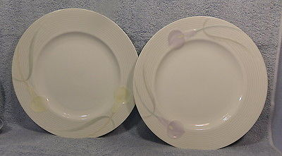 Mikasa Serenade Lavender & Yellow Dinner Plates Lot 2