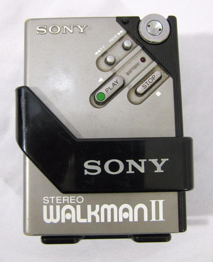 Sony Walkman II WM-2 Portable Cassette Player Belt Carrier Parts or Repair