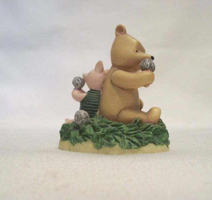 Lenox Disney Winnie the Pooh Thimble – POOH AND PIGLET WITH DANDELIONS - chipped