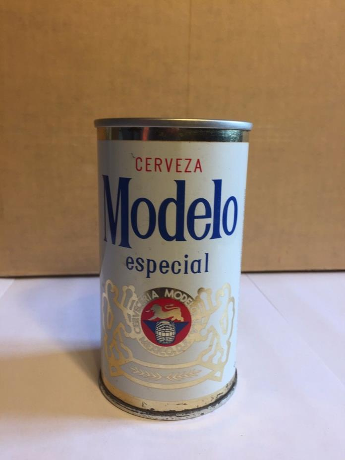 Modelo Especial Cerveza Mexico Brewing Co Steel 12 OZ. Pull TAB Vintage BEER CAN