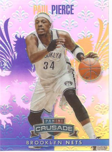 Paul Pierce Crusade 13-14 #244 Blue Crusade Prizm Brooklyn Nets Boston Celtics