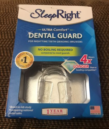 SleepRight Ultra-Comfort Dental Guard for NightTime Teeth Grinding (BRUXISM) New