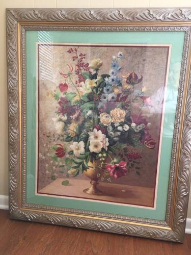 Home Interior Rare Floral Vase Picture 40 1/2